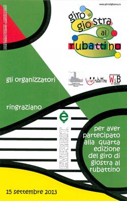 La locandina di Giro di GioStra al Rubattino 2013