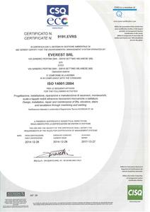 Certificato ISO 14001 del 2004