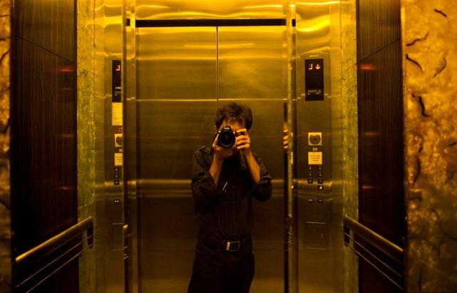 Autoscatto in ascensore
