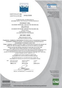 Certificato ISO 9001 del 2008